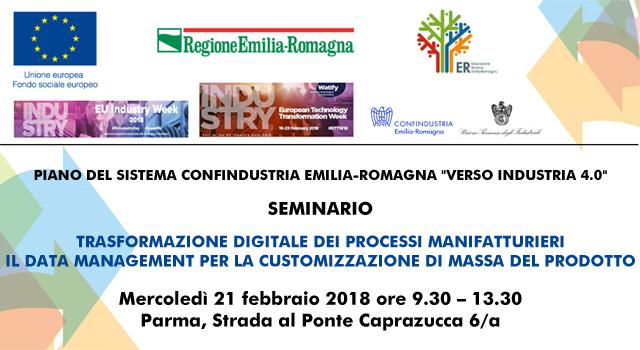 """Il video e le presentazioni del seminario in tema di """"trasformazione digitale e Data management"""" – Parma, 21 febbraio 2018"""