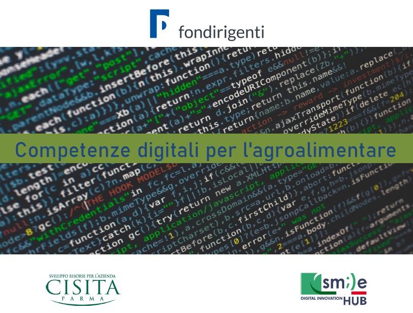 Fondirigenti – Competenze digitali per l'agroalimentare